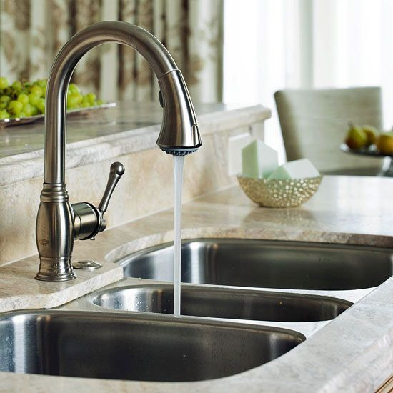 Sink and tap.